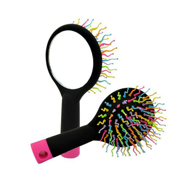 Colorful Hair Brush with Mirror