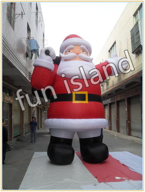 free shipping inflatable christmas decoration giant inflatable santa