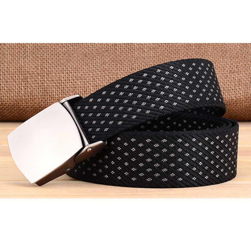 Medyla Panas Mewah Pria Sabuk 2018 Real Marcas Belt Fashionable Klasik Merek Pin Gesper Tali Merek Cinto Masculino Kanvas