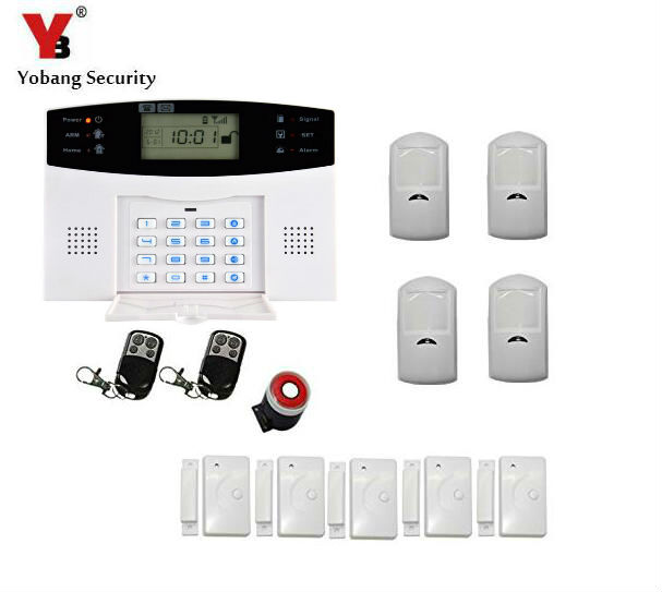 Yobang Security LCD Screen GSM SMS Alarm System Home Security GSM alarm system Quad-band Wireless alarm panelYobang Security LCD Screen GSM SMS Alarm System Home Security GSM alarm system Quad-band Wireless alarm panel