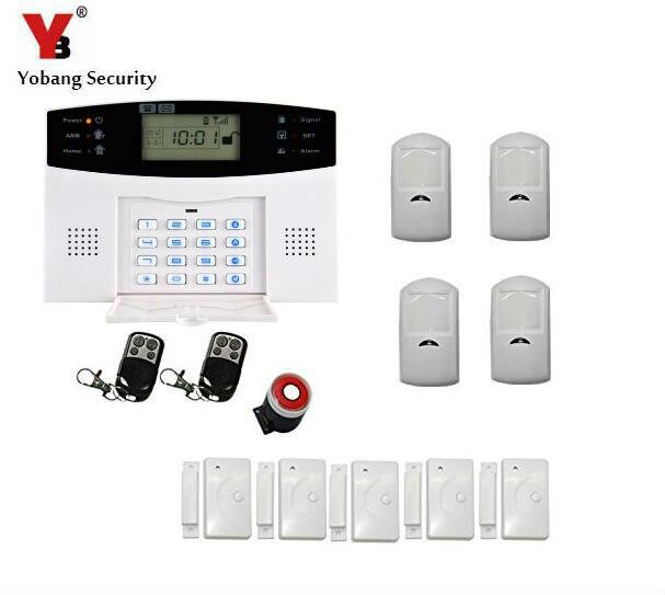 Yobang Security LCD Screen GSM SMS Alarm System Home Security GSM alarm system Quad-band Wireless alarm panel