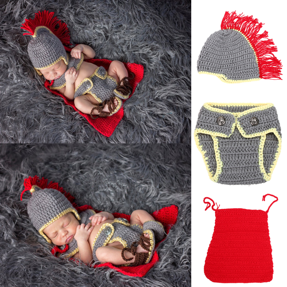 0-4M Newborn Baby Girls Boys Photography Props Photo Shoot Birthday Festival Gift Crochet Knit Costume Hat Pants Clothes Set newborn baby photography props infant knit crochet costume peacock photo prop costume headband hat clothes set baby shower gift page 1