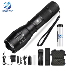 Led zaklamp Ultra Bright torch T6/L2/V6 Camping licht 5 switch Modes 10000 LM Zoomable Fietslicht gebruik 18650 batterij(China)