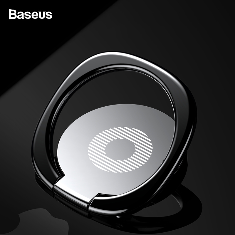 Baseus Finger Ring Holder Stand para iPhone 11 Pro Max X Xs Xr Xiaomi Redmi Soporte magnético para coche Soporte para anillo Soporte para teléfono móvil