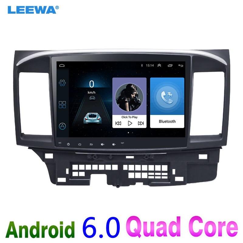 LEEWA 10 дюймов больше HD Экран Android 6,0 автомобилей медиа плеер с gps Navi Радио для Mitsubishi Lancer EX (2007-настоящее CY2A-CZ4A)