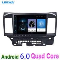 LEEWA 10 дюймов больше HD экран Android 6,0 Автомобильный медиаплеер с gps Navi Радио для Mitsubishi Lancer EX (CY2A CZ4A Н. В. 2007)