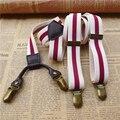 Vintage male men women's suspenders Original retro suspenders men  Personalized fashion decoration Leather elastic strap clip