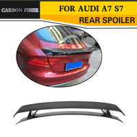 Carbon Fibre Xe Rear Trunk Spoiler Lip Wing đối với Audi A7 S7 RS7 Sedan Chỉ 08-11 đen FRP