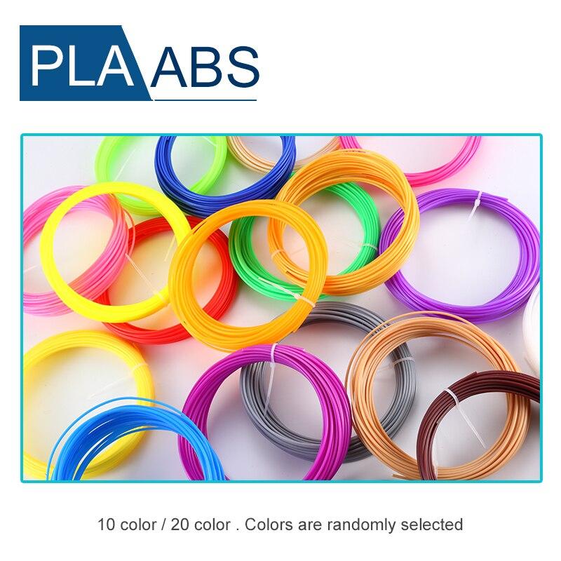 Hot Sale 20 color or 10 color/set 3D Pen Filament ABS/PLA 1.75mm Plastic Rubber Printing Material For 3D Printer Pen Filament|3D Printing Materials| |  - title=