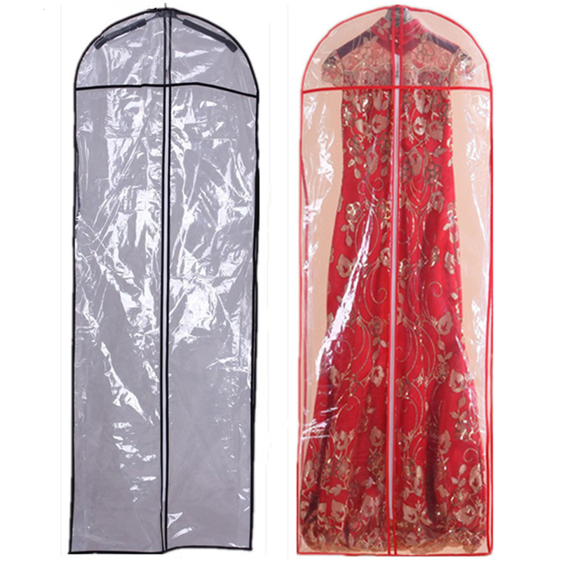 Length 150cm PVC Hot Sale Cheap For Wedding Dress Bag Clothes Dust Cover Garment Bags Bridal Gown Bag Evening Dress Cover M0836Length 150cm PVC Hot Sale Cheap For Wedding Dress Bag Clothes Dust Cover Garment Bags Bridal Gown Bag Evening Dress Cover M0836