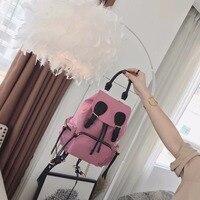 Backpack women Korean college bag 2018 new solid color nylon backpack