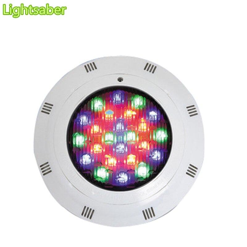 27 W 36 W 54 W 72 W RGB Piscina Lâmpada LED IP67 Luzes Lagoa Subaquática Holofotes de Controle Remoto 12 V Fonte de Iluminação