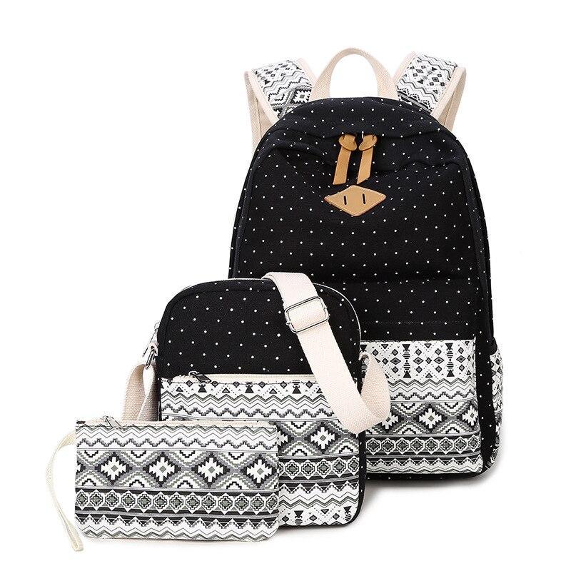 c5e65b1f07 Aliexpress.com   Buy 3 Pcs Set Girl School Bags For Teenagers Girls  backpack set Women Shoulder Bag Purse Travel Bags 2017 Schoolbag mochila  from Reliable ...