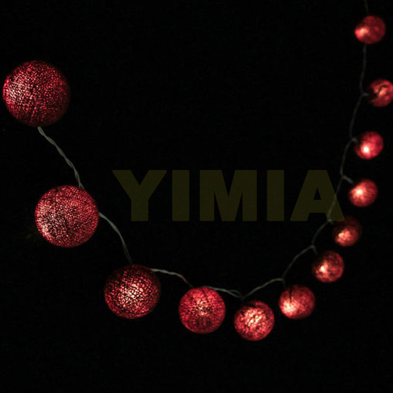2m 3m 4m 5m 10m LED String Fairy Lights Coffee Cotton Balls Christmas Garlands Holiday L ...