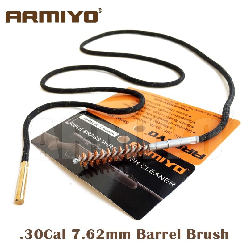Armiyo. 30Cal 7,62 мм ружье отверстие щетка для очистки ружья набор цельный Чистящий Набор подходит AK Охотничьи аксессуары резьба винта 8 32
