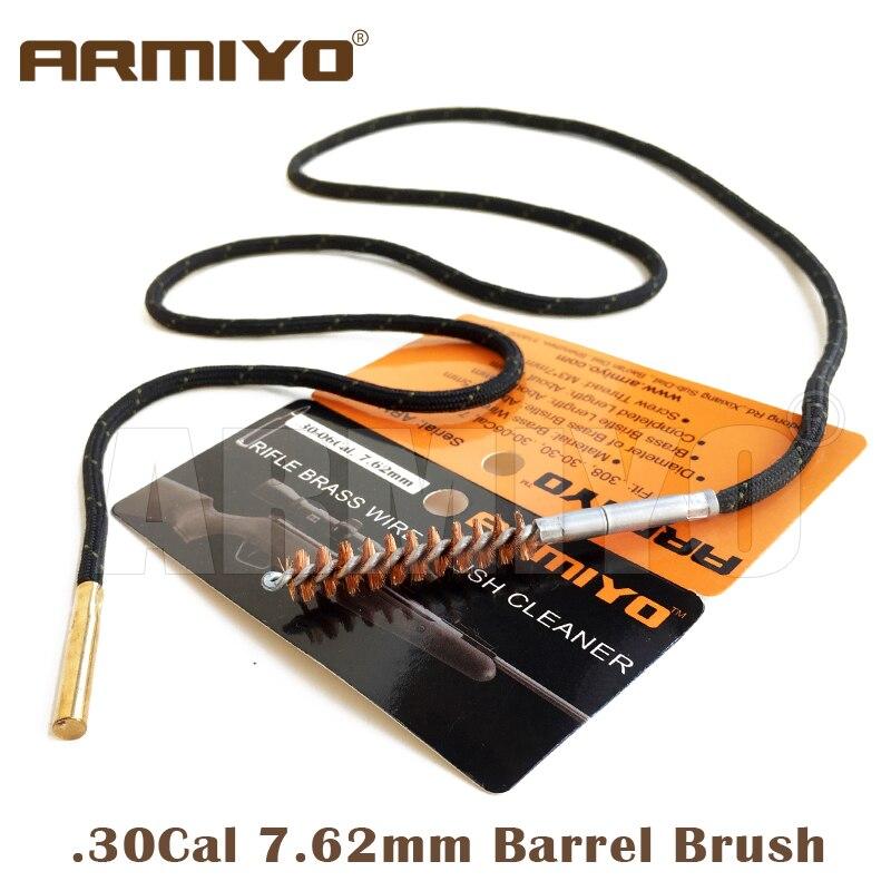 Armiyo баррель щетка. 30Cal мм 7,62 мм пистолет Диаметр кисти чистящее средство для винтовки набор цельный чистящий комплект подходит AK охотничий в...