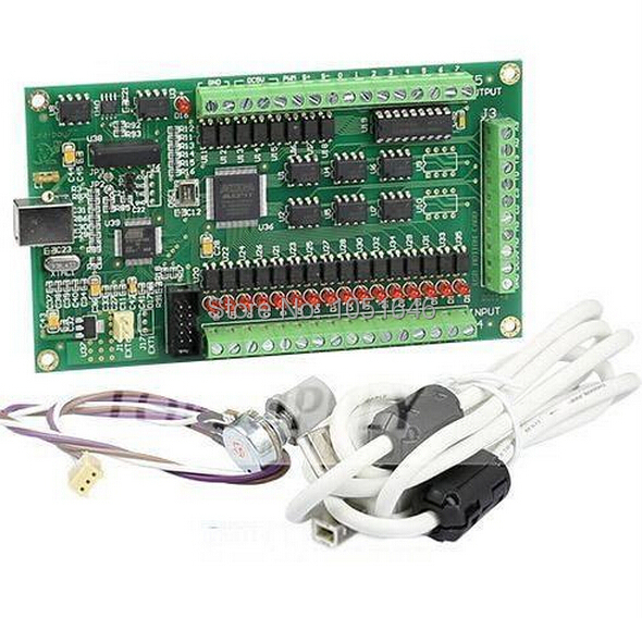 Free Shipping 3 Axis CNC USB Card Mach3 usb motion card 200KHz Breakout Board Interface for
