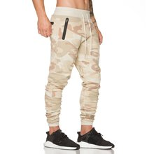 цена на 2019 Design Camo Fitness Sports Running Pants Men Training Camouflage Trousers Cotton Sweatpants Gym Jogging Pants