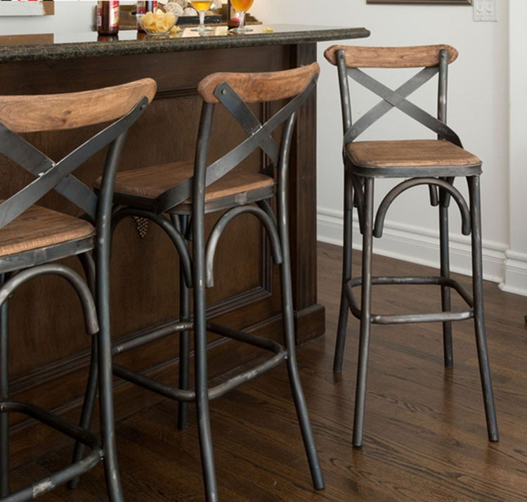 retro cafe table and chairs folding chair ground blind american iron wood bar stool