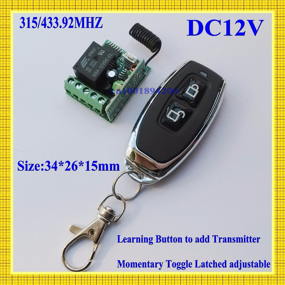 12v 1ch Wireless Remote Switch Controller System Receiver Relay Transmitter Learning Code Ask No Com Nc 315 43392mhz