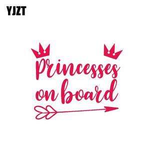 YJZT 13.2CM*11.1CM Princess On Board PVC Decal Funny Car Sticker 12-40482