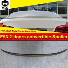 For BMW E93 M3 2-door coupe convertible High kick Trunk spoiler wing FRP Unpainted style 3 series 325i 330i 335i wings 06-13