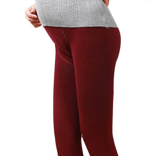 Novo Inverno de Algodão Barriga de Grávida Apoio Pé Calças Grossas Calças Quentes Calças Justas Para As Mulheres Grávidas Gravidez Maternidade