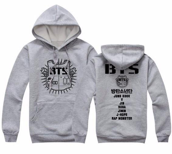 2016 Dame hættetrøje Tøj Hoody Sweatshirts BTS Cotton Sort Rød - Dametøj - Foto 5