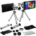 9 Peça Kit de Lente Da Câmera: Capa Case + Tripé 12X Zoom Telefoto + 3 Impressionante Da Lente Para Samsung Galaxy S4 S5/S6 S7 Borda PLUS/NOTA 5/4/3