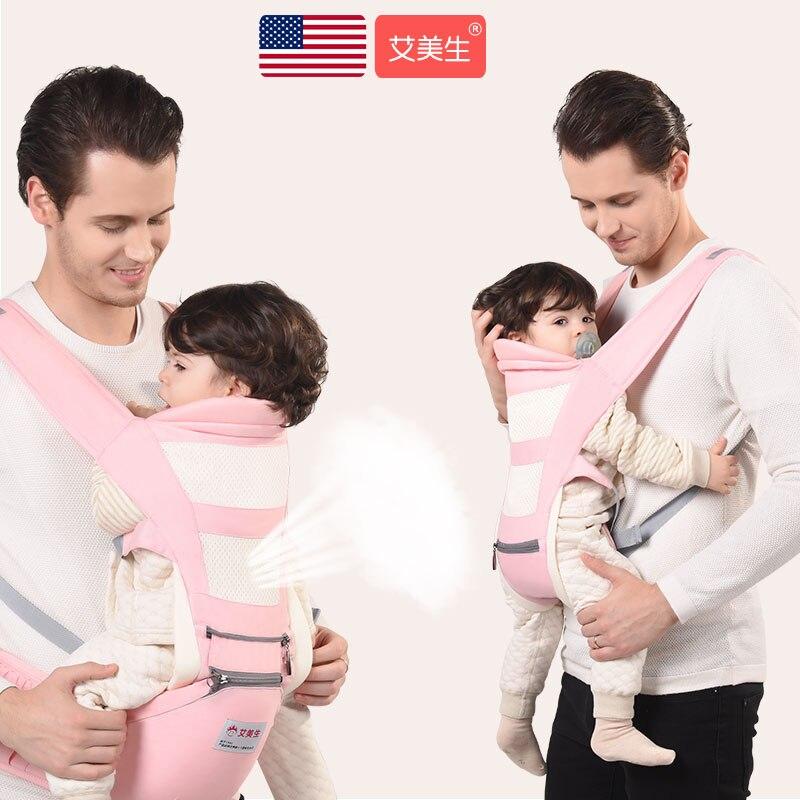Kangourous ergonomiques respirants en coton pour bébé, porte-bébé