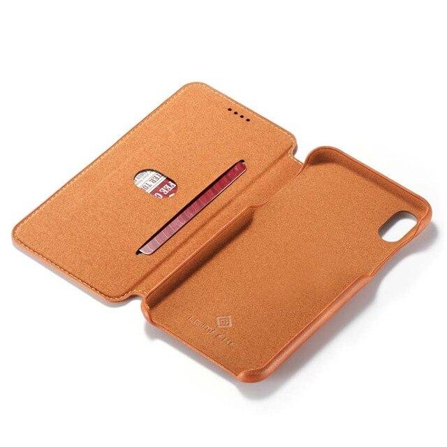 Original Flip Wallet Leather Business Retro Book Design Magnetic For iphone XS Max XR XS X 6 6S 6Plus 7 8 7Plus 8Plus  JS0715 4