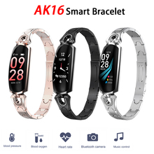 Ak16 Women Smart Band Fitness Bracelet Heart Rate Monitor Blood Pressure Watch Fitness Tracker for Android IOS Female Watch