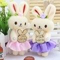 Caliente venta de la promoción 12 unids/lote conejo encantador para alta calidad ramo de peluche juguetes de peluche regalos de san valentín envío libre
