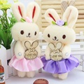 Hot sale promotion 12 pcs/lot lovely rabbit toys for bouquet high quality soft stuffed toys  Valentine's day gifts free shipping