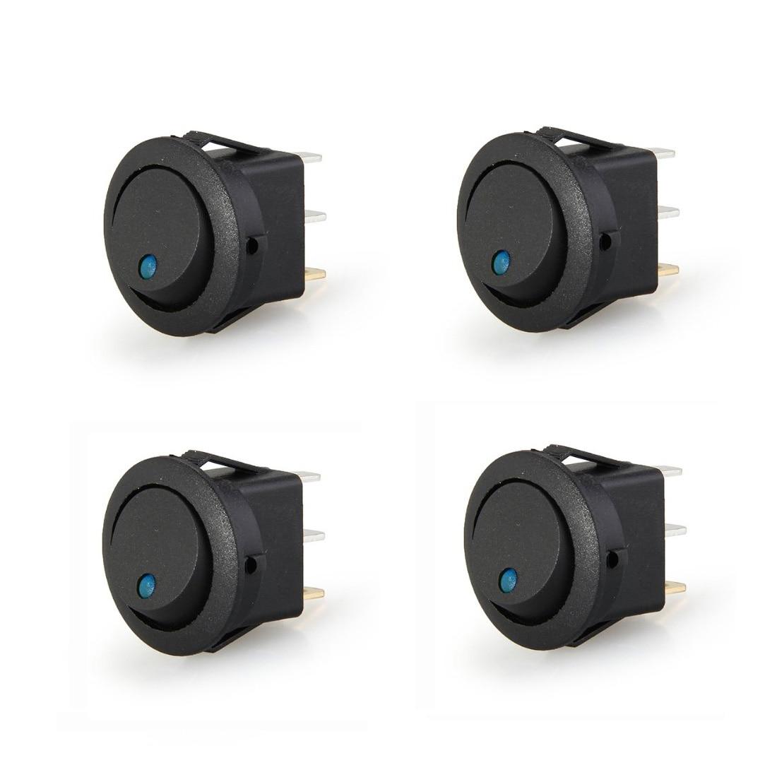 12V Black Mini Toggle Waterproof Cover ON//OFF Screw Bottom Feet SALE I7N9