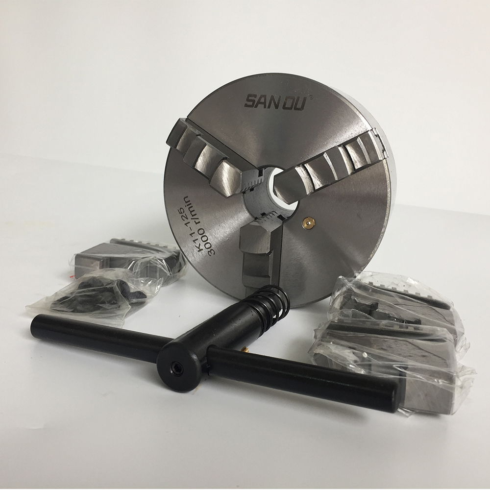 lathe chuck K11 125 three jaw self centering chuck 125mm 5 inch jaw with harden steel
