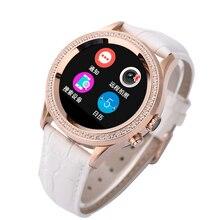 2016 NEUE Wasserdichte Bluetooth Frauen Diamant Smart Uhr D2 für IPhone und Android Smartwatch mit Kamera Sms Pulsmesser