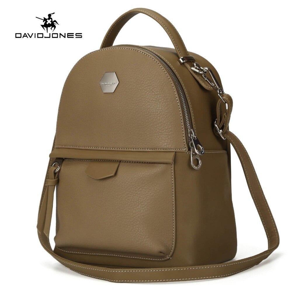 DAVIDJONES Women PU Backpack female shoulder bags bolsa mochila feminina Sac a dos rugzak