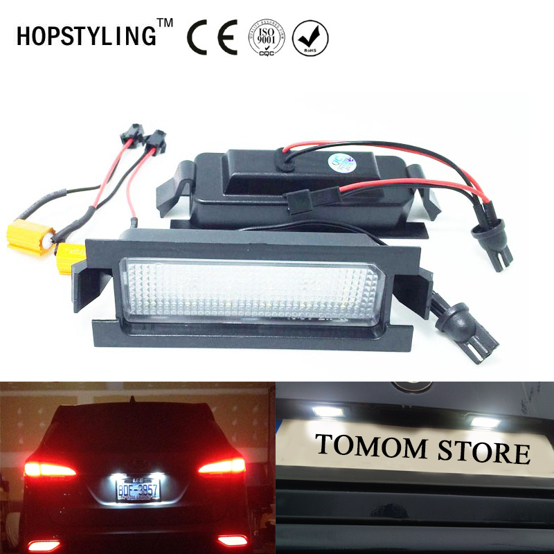 Car styling Error Free LED License plate light For Hyundai I30(GD)2011~ I30CW(GD) 2012~car tail number plate lamps