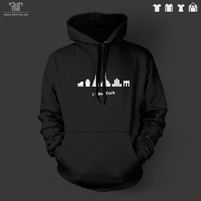 I love new york NY landmark icon men unisex pullover hoodie heavy hooded sweatershirt organic cotton fleece inside Free Shipping