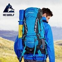 Hewolf 65L открытый спортивная сумка Professional восхождение мешок большой ёмкость кемпинг мешок Высокое качество сопротивление разрыву водонепрон