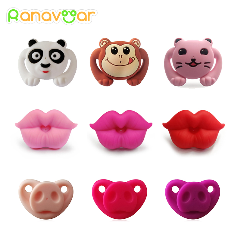 Silicone Funny Nipple Dummy Pacifier Baby Soother Joke Prank Toddler Pacy Orthodontic Nipples Teether Baby Pacifier Care