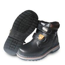 Зимние теплые 1 пара Сапоги и ботинки для девочек зимние экспортируется в Европу, Россия Детские загрузки + Inner17.5-20.5 см, мода дети мальчик Обувь