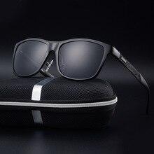 2017 coolsir diseñador de la marca marco cuadrado de la manera de los hombres de conducción de aluminio y magnesio gafas de sol polarizadas de viaje gafas de sol hombre
