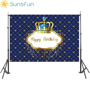 Image 3 - Sunsfun birthday background little prince royal crown baby shower dessert table decor newborn photoshoot birthday party banner
