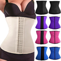 Trianer latex cintura cincher corset slimming bainha cintas shapers látex de borracha aptidão corset underbust