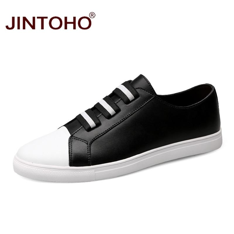 JINTOHO High Quality 2017 Men Designer Flats Shoes Brand Male Shoes Fashion Casual Genuine Leather Shoes