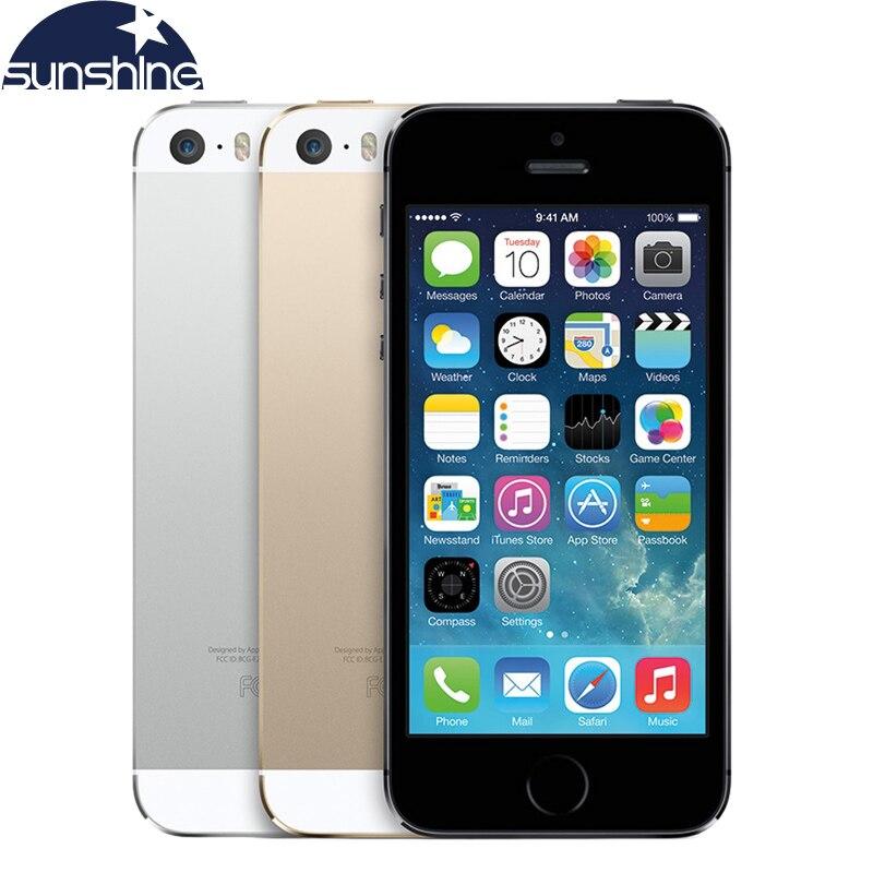 """Цена за Разблокирована Оригинальный Apple iPhone 5S Мобильный Телефон Dual Core 4 """"IPS Используется Телефон 8MP GPS IOS Смартфонов iPhone5s Сотовые Телефоны"""