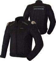 Benkia мотоциклетная куртка Для мужчин Chaqueta Cuero байкерская куртка защитная Броня мотокроссу пальто дышащий мотоцикл Rider Jacket