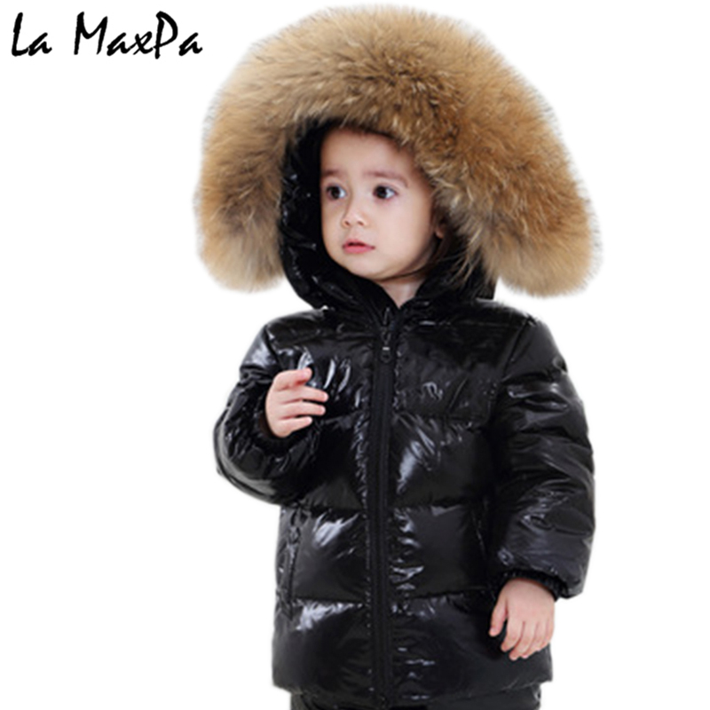купить 2018 winter down jacket parka for girls boys coats , 90% down jackets children's clothing for snow wear kids outerwear & coats по цене 13812.44 рублей